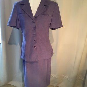 SALE! Purple Short Sleeve Suit